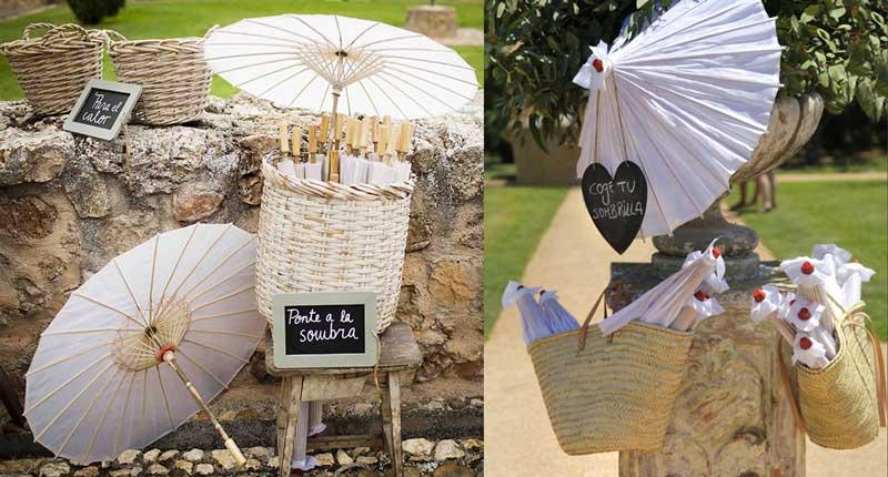 Ideas para refugiarse del sol en la boda