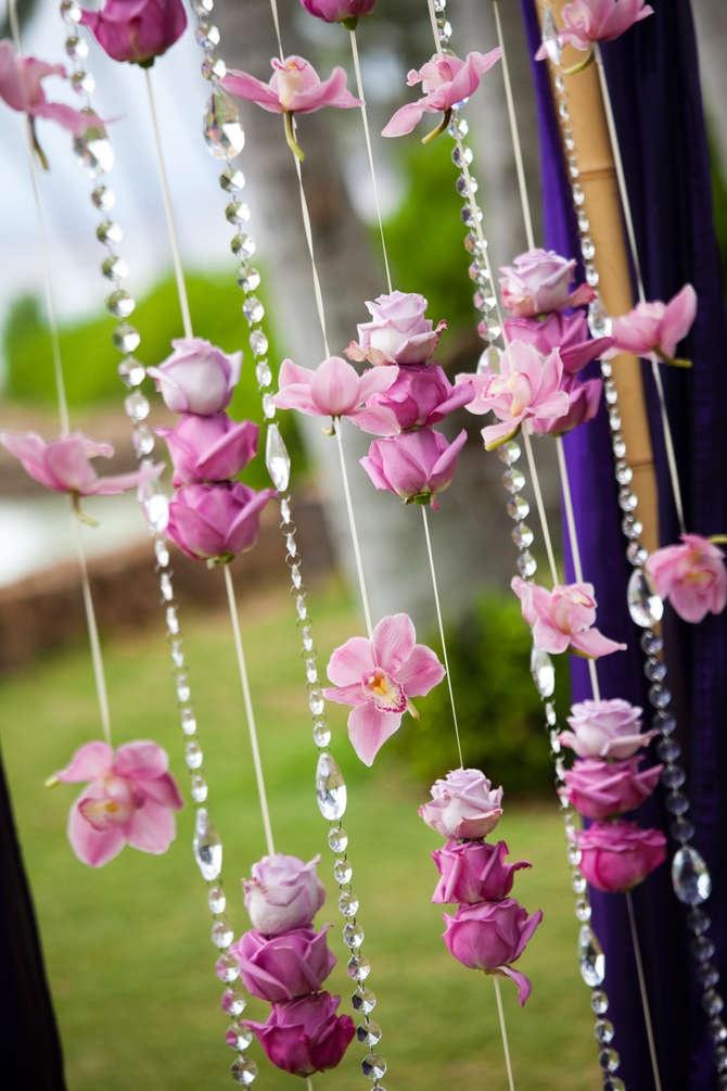 Cortinas de flores y escaleras para bodas - Hacer cortinas infantiles ...