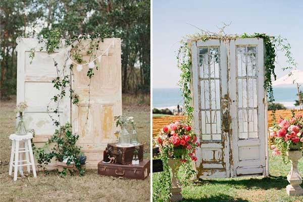 Decoraci n bodas puertas antiguas for Decoracion con puertas antiguas