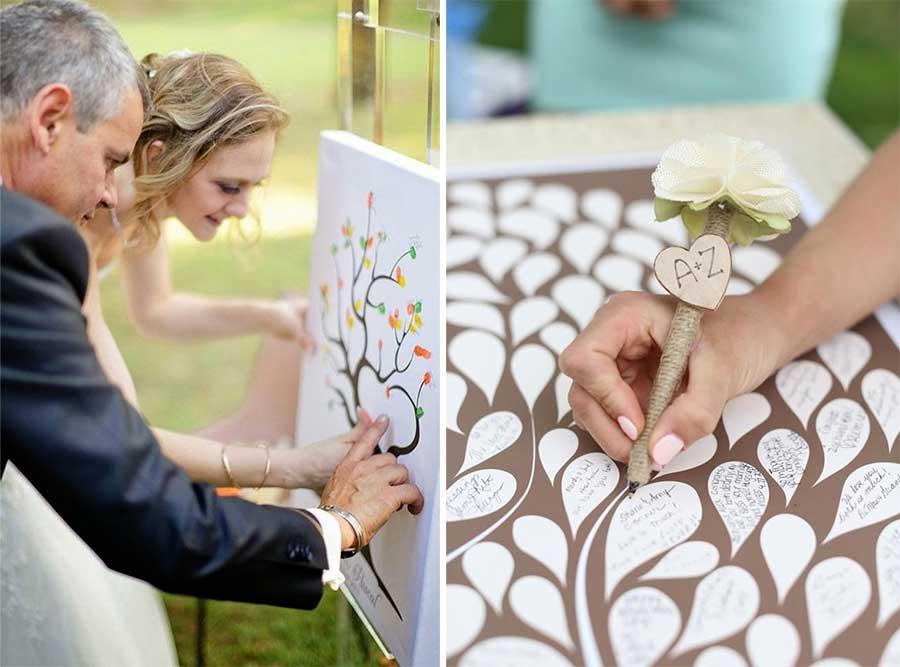 Arbol de huellas para boda