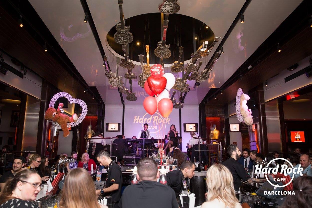 Decoración San Valentín en Hard Rock Café Barcelona