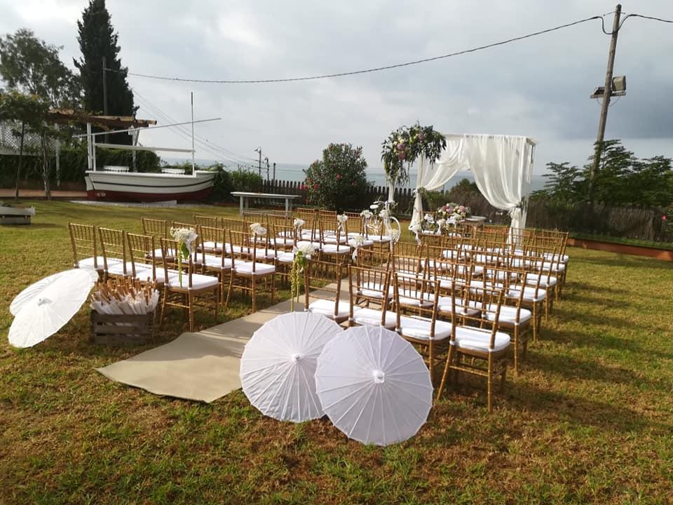 Decoración bodas en Playa Calafell