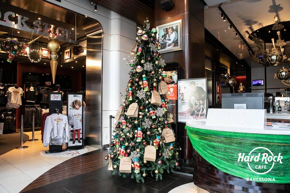 Decoración Navidad Hard Rock Cafe Barcelona